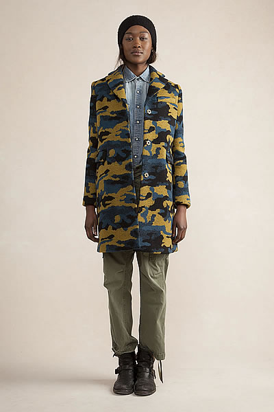 SB Top Coat Camo Knit